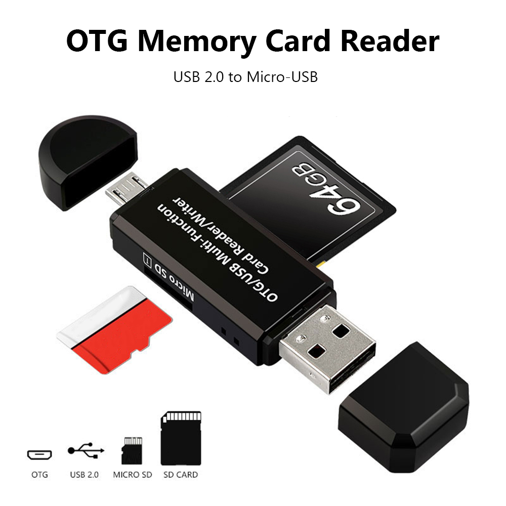 Micro SD Card Reader To USB  Adapter For Samsung S6 S7 HTC Laptop Card Reader