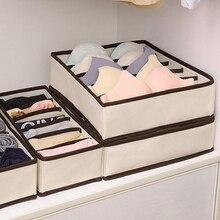 Мульти-размер складной ящик для хранения Коробки нижнее белье шкаф с выдвижными ящиками делитель с крышкой Шкаф, органайзер для хранения Ко...