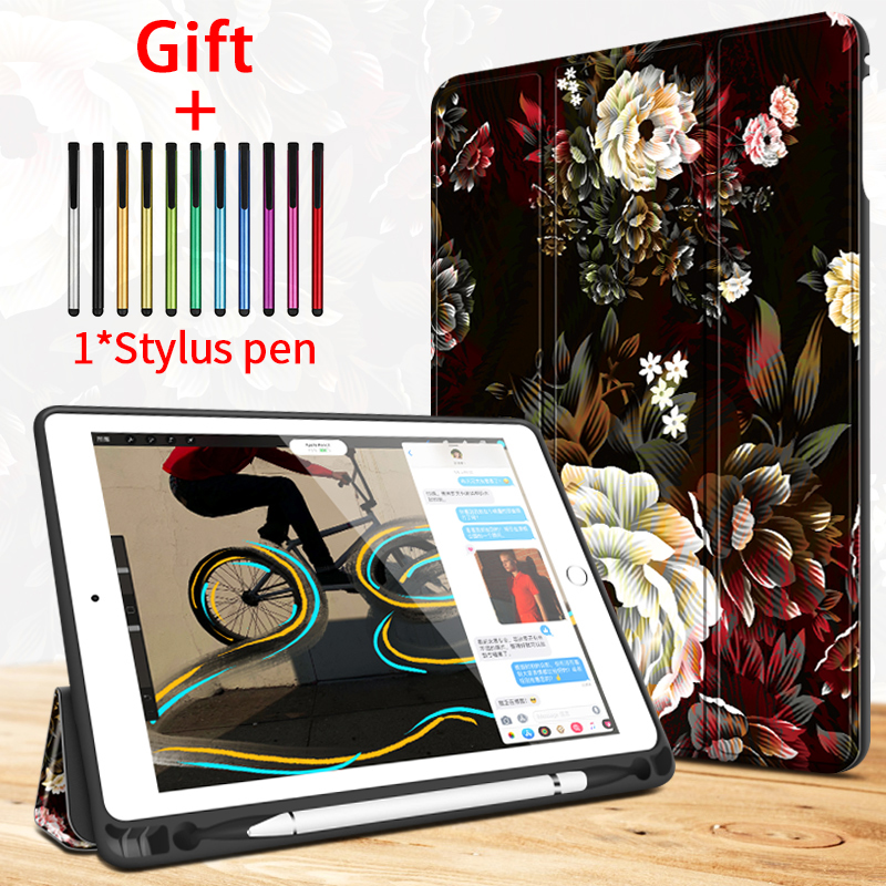 Case For IPad Pro 10.5 Air 3 Painting Case Wiht Pencil Holder Auto Sleep Wake Up Stand Smart Cover For IPad A1701 A1709 A1852