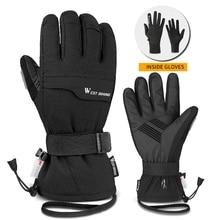 Motorcycle-Gloves Touchscreen Skiing-Gloves Riding Warm Waterproof Winter Women Outdoor