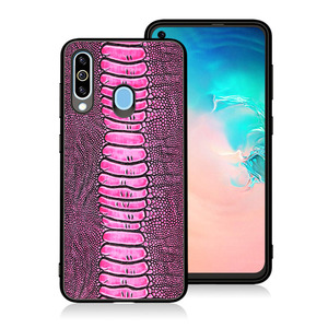 Image 3 - Natural Genuine Leather Skin Phone Case Cover On For Samsung Galaxy A30 A30S A50 A51 2019 A 20 30 50 S Global 32/64 GB Bumper