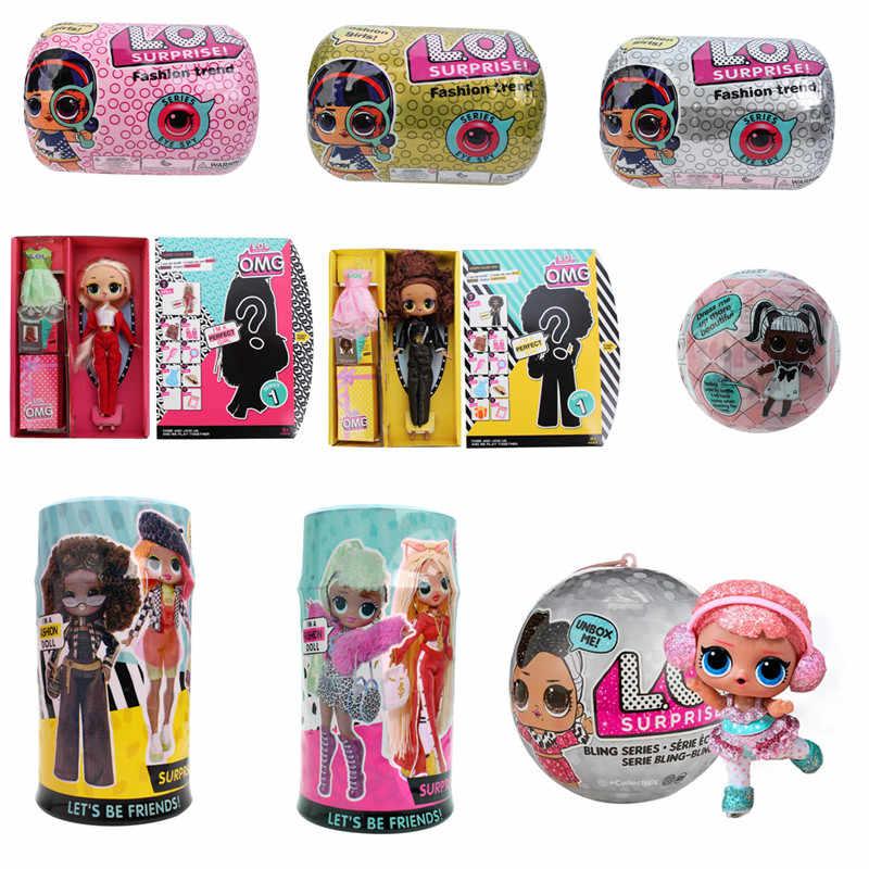 Л. О. Л. Сюрприз! Оригинальные куклы lol сюрприз красивые волосы куклы 5 поколение DIY Ручная глухая коробка модная модель кукла игрушка подарок
