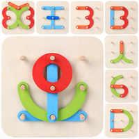 Combinação Brinquedo Educativo Número Letras de Madeira Crianças Educação Set Brinquedo de Coluna Especial As Crianças No Início Da Educação Jigsaw Pu