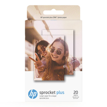 HP Sprocket Plus Zink Sticky Backed 2.3x3.4 inch 20 Sheet Photo Paper
