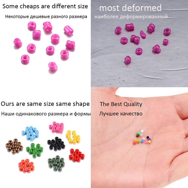 1800pcs/lot 2mm Charm Miyuki Delica beads Czech Glass Seed Beads Small Round Loose Bead For DIY Jewelry Making Earrings Bracelet