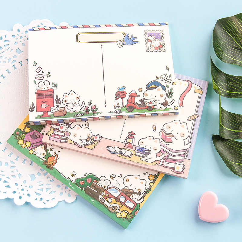 50 ชิ้น/เซ็ต Kawaii MeMO Pad น่ารักแมวการ์ตูนรูปแบบผลไม้นักเรียนโรงเรียน Kawawaii เครื่องเขียน Notepad To Do List