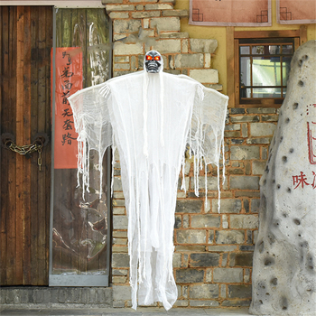 Garden Scary Halloween Decoration Horror Halloween Props Hanging Halloween Creepy Ghost Electric Flying Grim Reaper Ghost