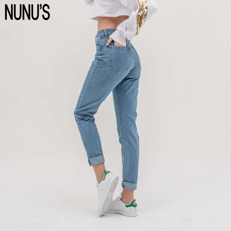 NUNU'S Jean Woman Mom Jeans Pants Boyfriend Jeans For Women With High Waist Push Up Large Size Ladies Jeans Denim 3xl Hot 2020