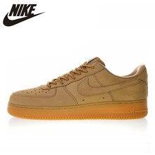 Новинка, высокое качество, Nike Air Force 1, низкая 07, Льняная мужская и женская обувь для скейтбординга, уличные кроссовки, амортизация, AA4061 200