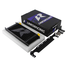Linesracing AN10 10Row Aluminium Oliekoeler W/ 262Mm Montagebeugel Kit Trust Type Zwart/Blauw