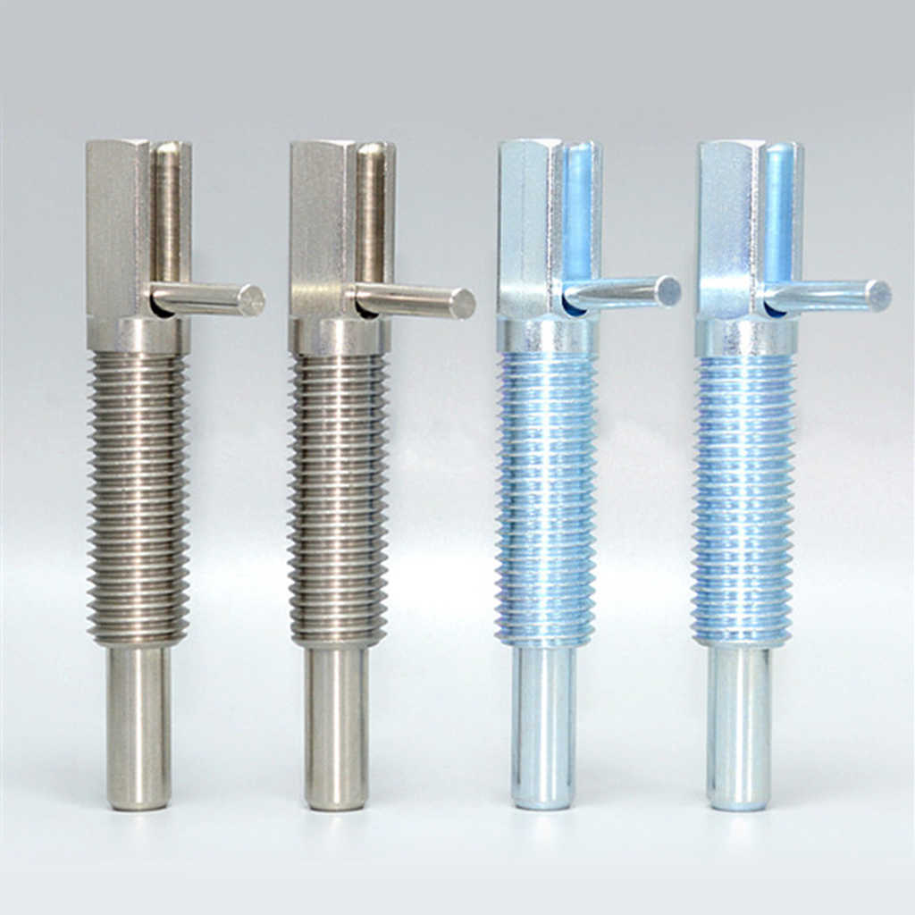 5pcs Stainless Steel M12 Index Plunger Ring-pull Nut Spring Loaded Retracted Pin