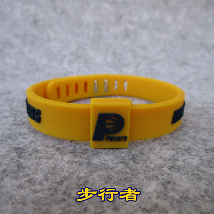 Basketball Indiana Pacers Sports Bracelet Silica Gel Adjustable Wrist Strap Bracelet With (Ball Game) Fan Supplies Wholesale