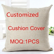 Cushion-Cover Pillow-Case Decorative-Throw Sofa Linen Square Cojines Customized Cotton
