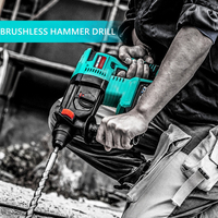 Electric Cordless Rotary Hammer Drill Electric Pick Power Tools Multi Function Quick Chuck 21V Makita Lithium Battery
