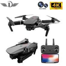 Fema e88 pro zangão 4k hd câmera dupla grande angular 1080p wifi fpv zangão altura segurar rc quadcopter dron brinquedo pk e525 e58