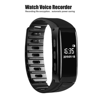Digital Black Voice Recorder Wearable Wristband Watch Recorder Audio Recording 8GB with ATJ2127