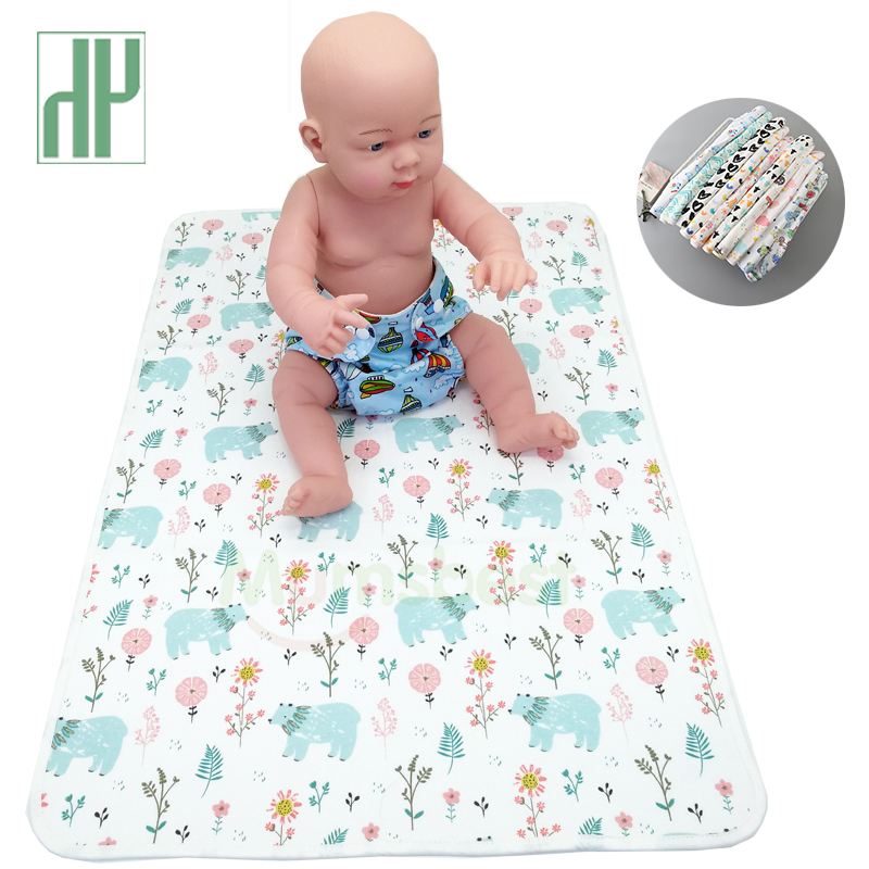 Baby Diaper Changing pads Washable Travel Nappy Mat Waterproof Newborn Cover Size: 70cmx50cm