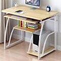 Настольный компьютерный стол 70 см с кронштейном для клавиатуры, современный письменный стол для обучения, стол для ноутбука, мебель для дом...