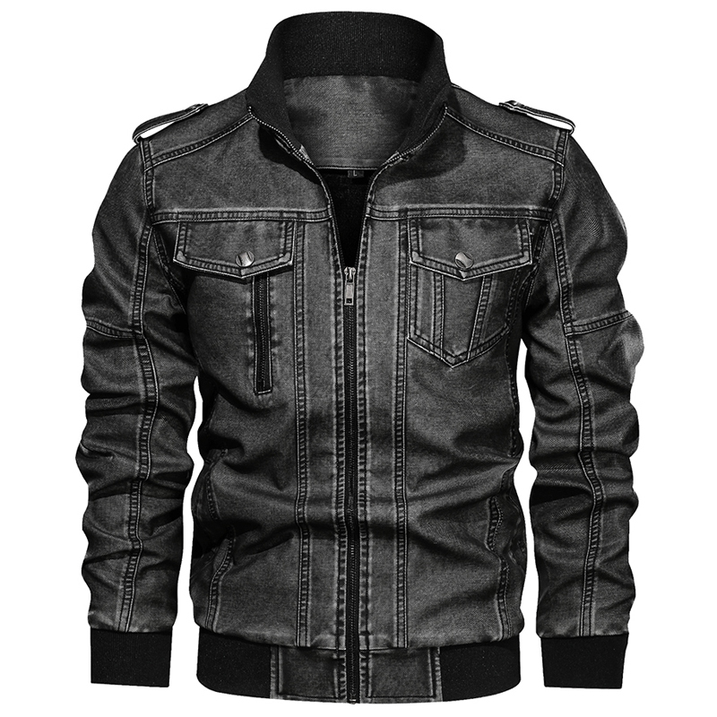Russian Winter Warm Motorcycle Man's PU Coats Leather Jackets Velvet Plus Size 6XL Man Leather Coats Vintage Retro Overcoat A918