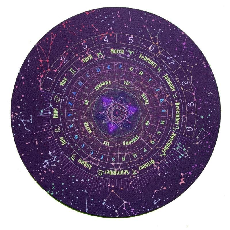 Tarots Card Pad Round Pendulum Divination Tablecloth Runes Altar Table Cloth Constellation Magic Board Game Pad