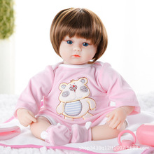 купить Reborn Baby Doll 22 inch Lifelike Baby Newborn Toddler Girl Soft Simulation Silicone Vinyl Vivid Girl Toy Christmas Gift For Kid по цене 2538.95 рублей