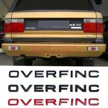 Insignia de emblema de letras para Range Rover overpinch estilo de coche cubierta de repuesto parte trasera del maletero Etiqueta de parachoques inferior Cromo Negro carbono