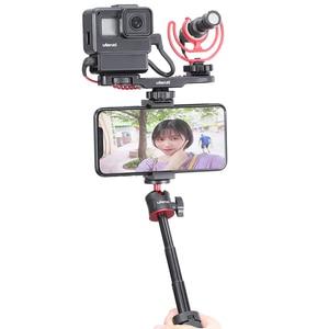 Image 2 - Ulanzi PT 8 PT 9 Gopro Smartphone Vlog צלחת עבור Sony A6400 A6300 קר נעל הר להאריך מיקרופון LED אור מתאם