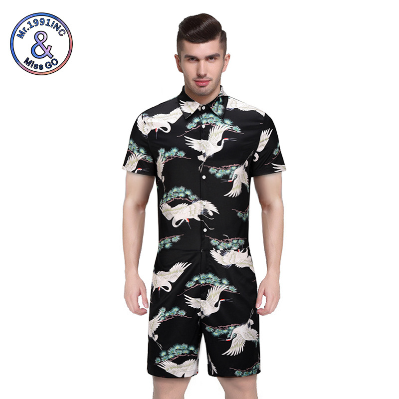 2019 Summer New Style MEN'S Suit Two-Piece Set Electricity Supplier Europe And America Popular Brand Crane Onesie Supply Of Good