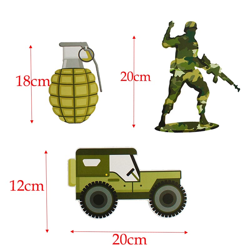 Camouflage Air Force Theme Decoration Army Latex Balloons Fighter Aircraft Foil Ballon Boy Girl Soldier Birthday Party Supplies-5