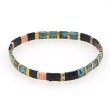 Go2boho outono pulseira jóias miyuki tila pulseiras grânulos de vidro 2020 moda pulseras real japão tila grânulo jóias atacado
