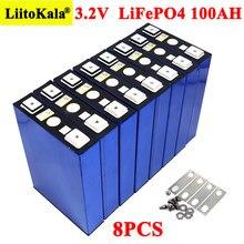 8 sztuk/partia 3.2V 100Ah bateria LiFePO4 litowo fosfa o dużej pojemności DIY 12V 24V 48V elektryczny samochód RV system magazynowania energii słonecznej