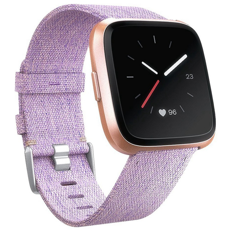 Replacement Woven Canvas Nylon Band Strap Wristband For -Fitbit Versa Watch