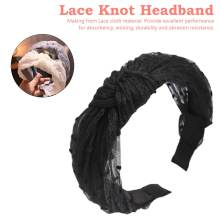 Shiny Crystal Headbands Hair Band Hoop Accessories Headwear Vintage Bohemian Lace Knot Women Wide Knotted Hairbands sexy midriff baring tops
