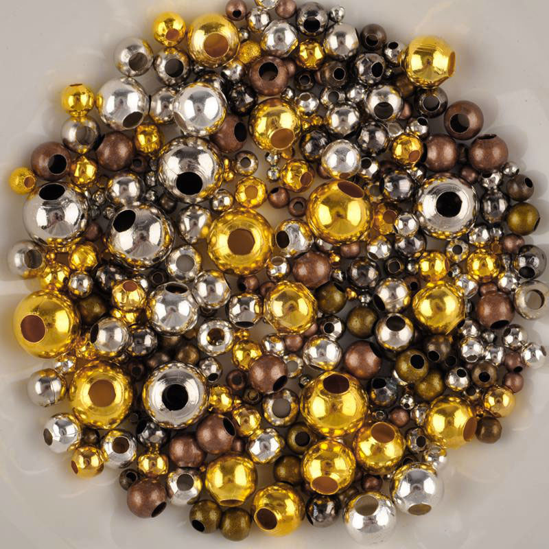Gold /& SILVER PLATED Round SPACER BEADS 2.4MM 3.2MM 4MM 5MM 6MM 8MM 10MM