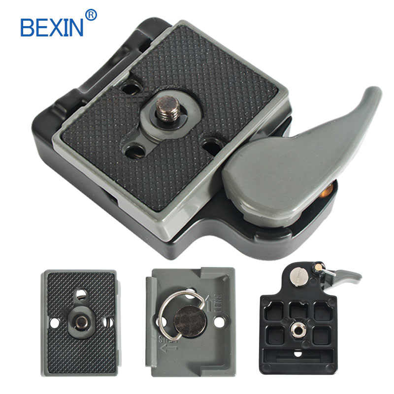 BEXIN 200PL-14 323 Quick Release Clamp Adapter สำหรับกล้องถ่ายรูปกับ Manfrotto 200PL-14 แผ่นรองรับ BS88 HB88 Stabilizer แผ่น