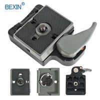BEXIN 200PL-14 323 Braçadeira de Liberação Rápida Placa de Adaptador Para Tripé de Câmera com Manfrotto 200PL-14 Compat BS88 HB88 Estabilizador Placa