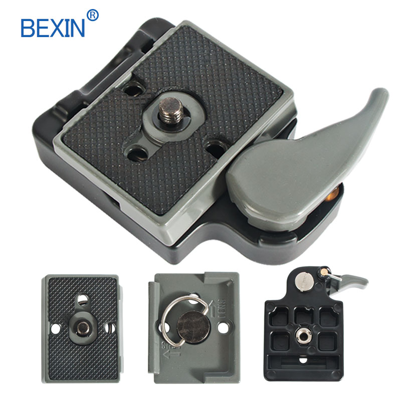 BEXIN 200PL-14 323 Quick Release Clamp Adapter For Camera Tripod With Manfrotto 200PL-14 Compat Plate BS88 HB88 Stabilizer Plate