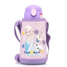 600ml Disney Baby Thermos Bottles Set with 3 Lids Elsa Anna