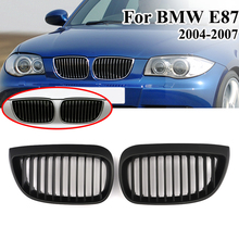 цена на MagicKit Grill for BMW E87 E81 Coupe 1 Series 2004 - 2007 Pair Left & Right Car Front Sport Kidney Hood Grill Grilles Matt Black