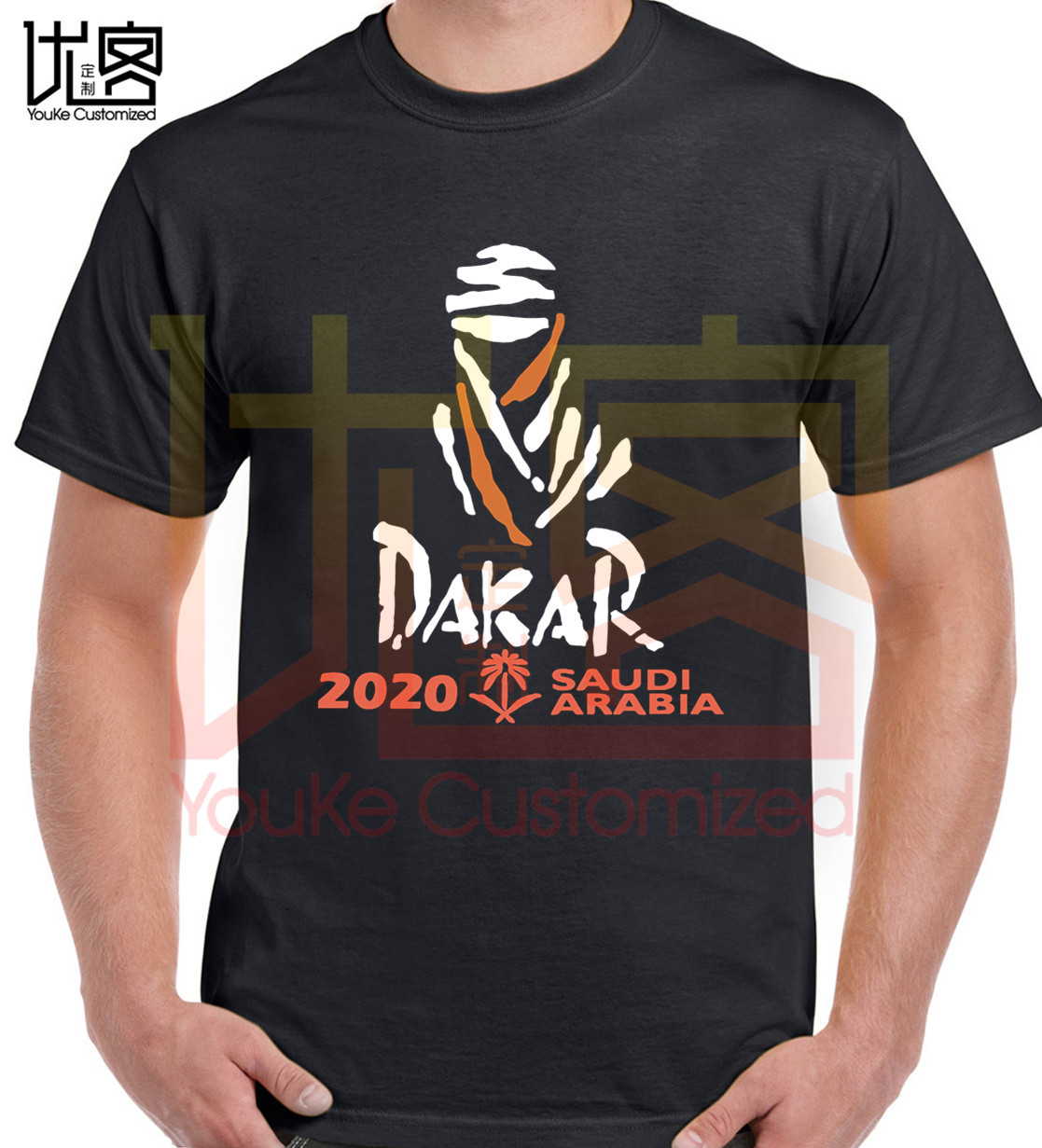 Dakar 2020 Rally Racing Saudi Logo T Shirt Men's Women's Fashion O-neck Cotton Short Sleeves Tops Tee Printed Unisex T-shirt