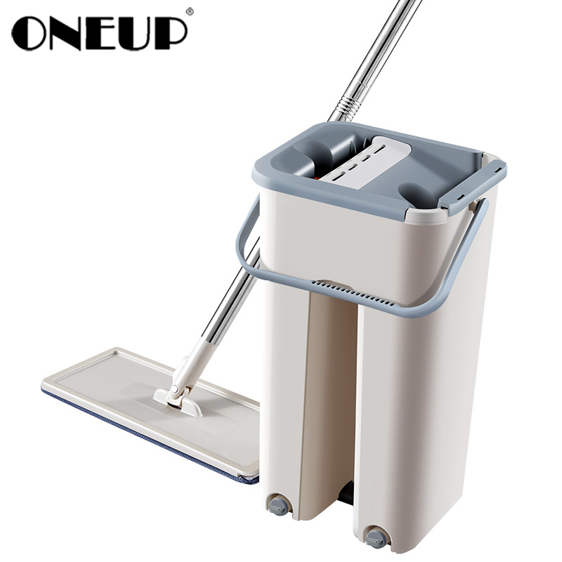 ONEUP Mop-Bucket Rotation-Self-Cleaning Lazy-Mop Hands-Free Magic Automatic Wet-Use Dry