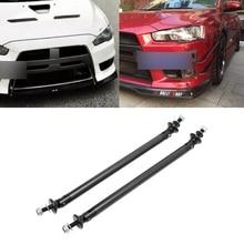 Universal Adjustable Front Rear Bumper Lip Splitter Support Bar Strut Brace Rod mofe racing aluminum front strut bar brace tower bar for e36