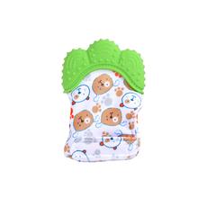 Baby Teether Baby Anti-Bite silikonowe rękawiczki molowe dziecięce zabawki dźwiękowe narodziny zabawki dla malucha dla noworodków tanie tanio Zwierzęta i Natura Clean steam or boiled HLT009 Urodzenia ~ 24 Miesięcy 2-4 lat Boiling disinfection before each use