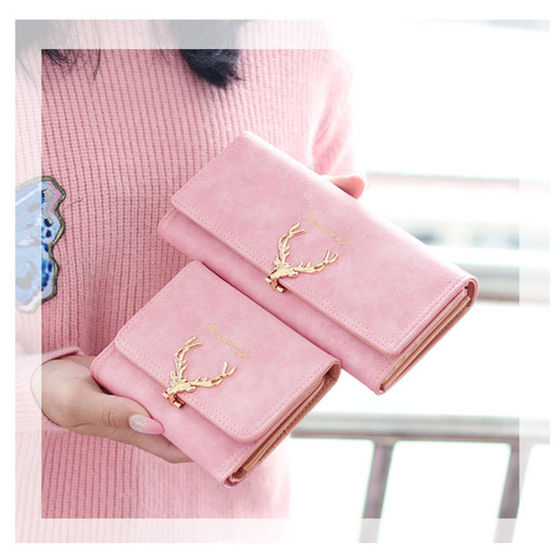 New Fashion Women's Clutch Portefeuille Wallet Large Capacity Purse Long Short Coin Pocket PU Leather Ladies Designer Wallets