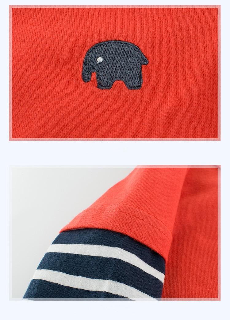 Hd8a85a00f4b141cca63e4a02c4c0883fq 2020 Children Boys Girls Clothes T-shirt Cotton Long Sleeve Elephant Cartoon Tees s Kids Baby Boys Bottoming Shirts 27 Kids