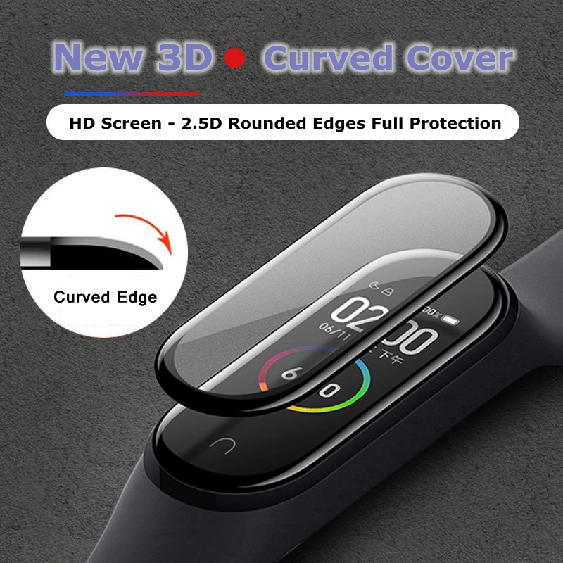 3D Screen Protector for Xiaomi mi band 4 5 film strap Mi band4 Smart Watch Miband Full Soft Protective Glass xiomi miband4 Film(China)