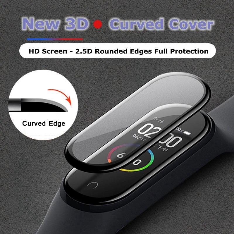 3D защита для экрана для Xiaomi mi band 4 5 пленочный ремешок Mi band4 Смарт часы Miband полное мягкое защитное стекло xiomi miband4 пленка|Смарт-аксессуары|   | АлиЭкспресс
