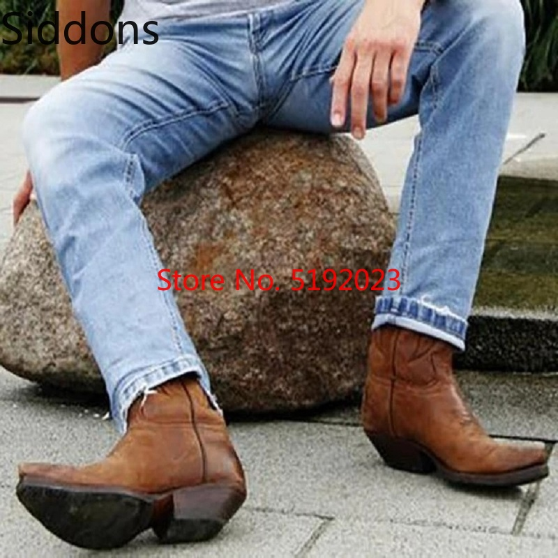 Winter Ankle Boots Men Shoes Appliques  Vintage Classic Male Casual Motorcycle Boot  Zapatos De Hombre Fashion Shoes Men D138