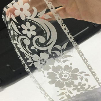 PVC Lace Pattern Wallpaper Border Sticker Pretty Waist Line Wall  Waterproof Self Adhesive Home Decor
