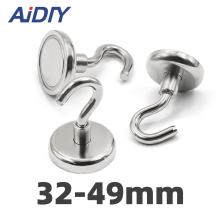 AI DIY 1/3/10Pcs D32 Magnetic Hooks Strong Mini Heavy Duty Hanger Durable For Home Kitchen Refrigerator Office Neodymium Magnet